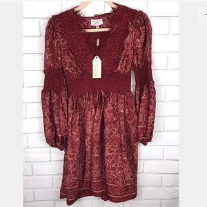 MAX STUDIO l Fall BOHO Dress sz XS lace detail